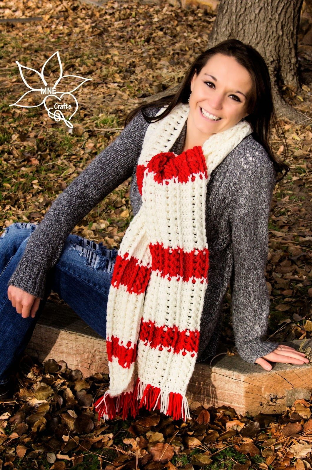 Candy Cane Cables Scarf