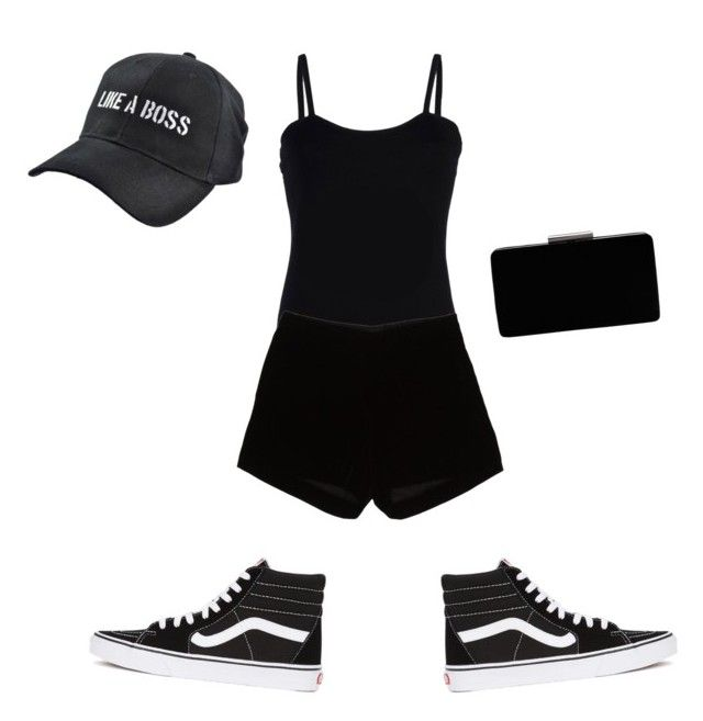 """""""like a boss"""" by legendaryzaria ❤ liked on Polyvore featuring Baguette....., Andrew Gn, Vans and John Lewis"""