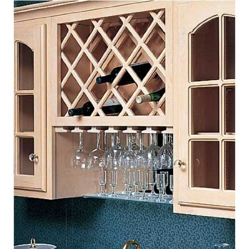 Solid Wood Diagonal Lattice Cabinet Door Inserts By Omega National: Omega National Cabinet Mount Omega Premium Wine Lattice