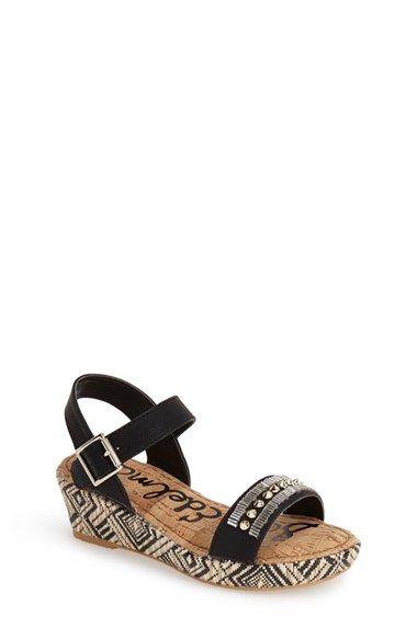 3fe7946bd66 Girl s Sam Edelman  Stella  Embellished Wedge Sandal