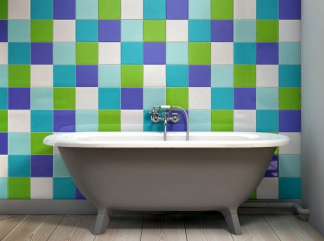 Carrelage colore salle de bain like a color | Salle de bain ...