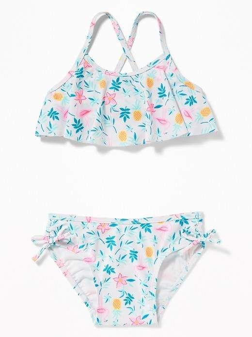 406128cd95d6b Old Navy Tropical-Print Ruffle Bikini for Toddler Girls | everything ...