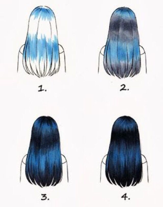 How To Blend Hair Colours Step By Step Digital Media Art How To Draw Hair Marker Art