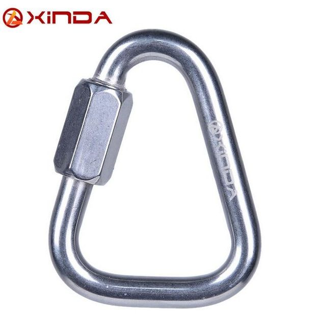XINDA 316 Stainless Steel Triangle Connecting Ring Meilong Lock Meilong Lock Triangle Lock Rock Climbing Equipment Fast Security