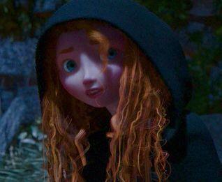 Merida's wet curls
