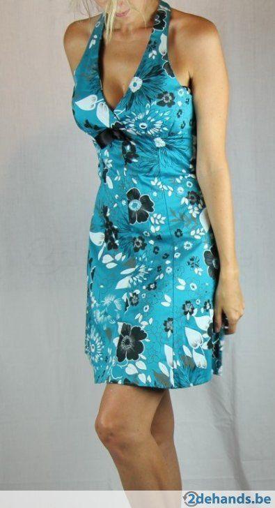 Blauwe jurk van Moggy's - Maat large