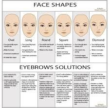 image result for oblong vs oval face shape  eyebrow shape