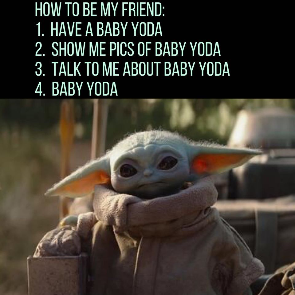 Baby Yoda Being Adorable With Subtitles Youtube In 2020 Funny Star Wars Memes Yoda Funny Yoda
