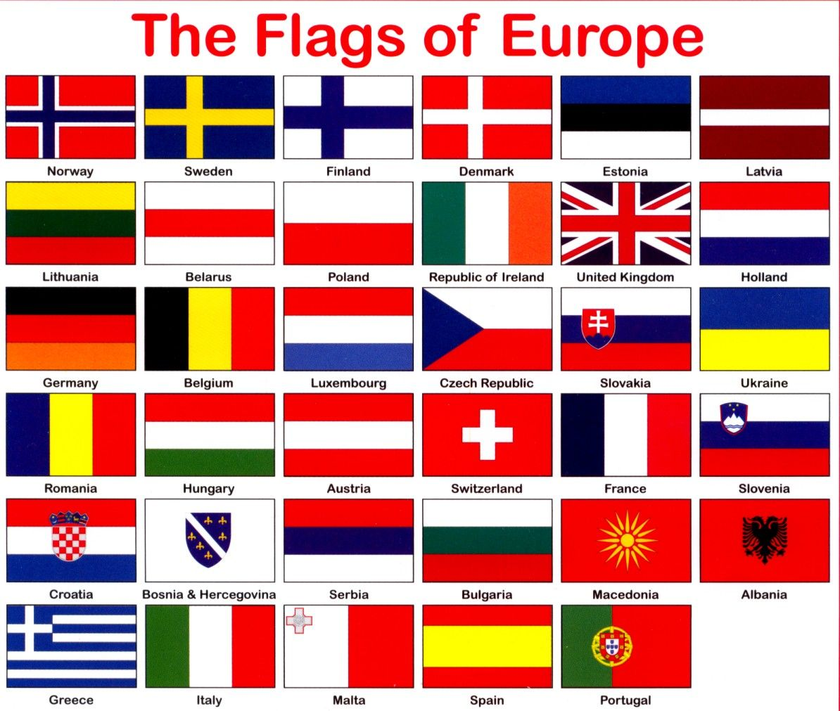 countries europe flags printable google search geography