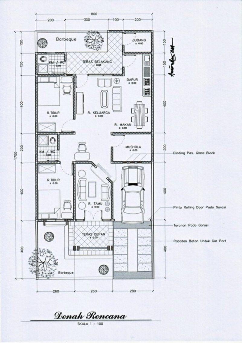 Denah Minimalis 7x9 1 Lantai 1