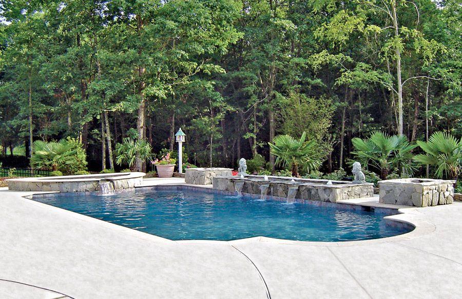 Firepit Built By Blue Haven Pools Charlotte