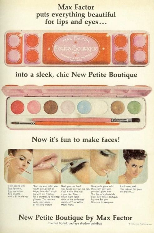 60s Makeup Packaging Fun Max Factor With Images Vintage