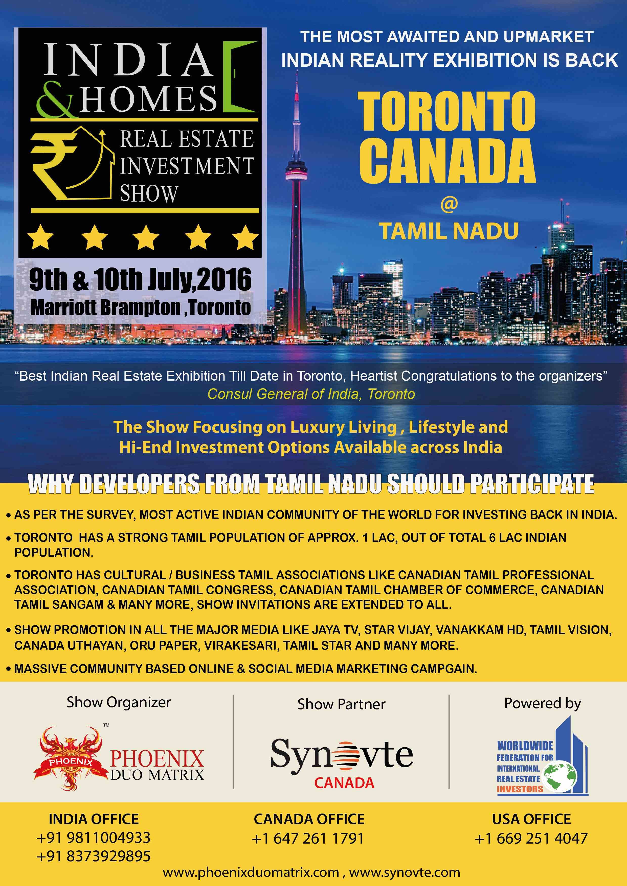 Why Developers From Tamil Nadu Should Participate In Ihris Toronto Brampton Real Estate Investing Investing