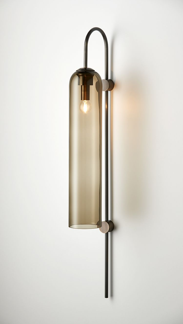 Modern Original Design American Bronze Glass Wall Lamp Wall Corridor Aisle Bedside Loft Wall Sconce Bar Stair Wall Light Fixture Led Indoor Wall Lamps