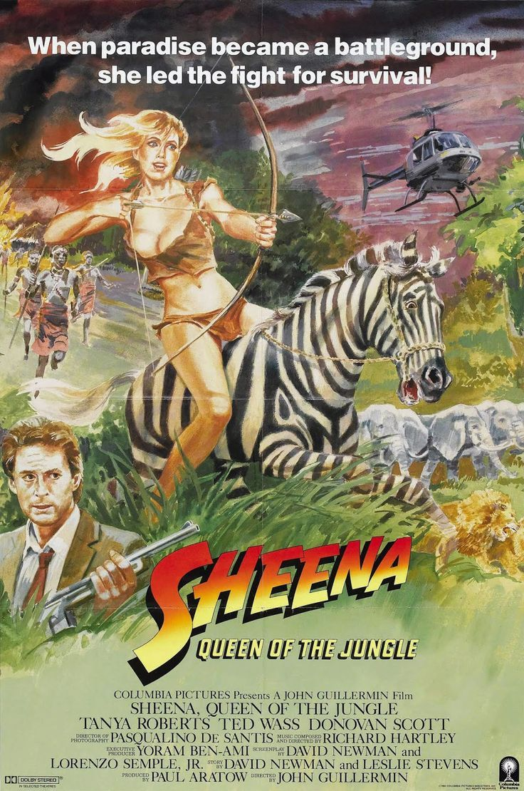 Sheena Queen Of The Jungle 1984 Movie Posters Jungle Best
