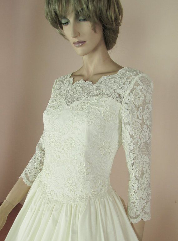 Vintage wedding Dress 90\'s – Bridal gown from 1990s - Lace Princess ...