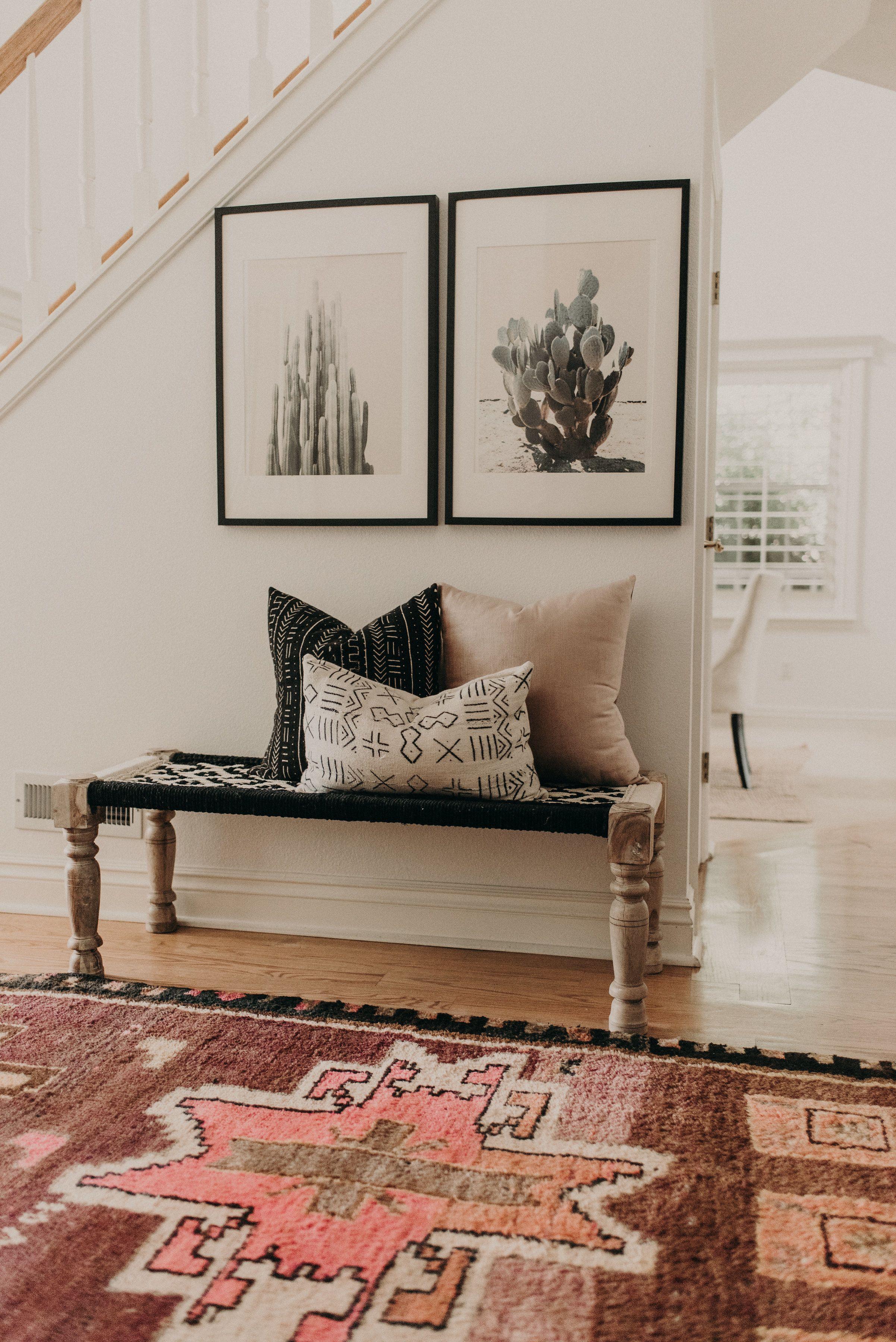 Modern hallway furniture ideas  Tour a Space that Blends Bohemian Details with a Modern Farmhouse