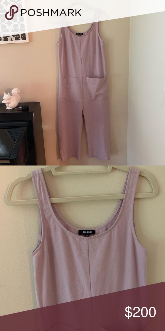 d32824feb15 Ilana Kohn Gary Jumpsuit In Lila XS Worn once beautiful linen cotton blend  gary style jumpsuit