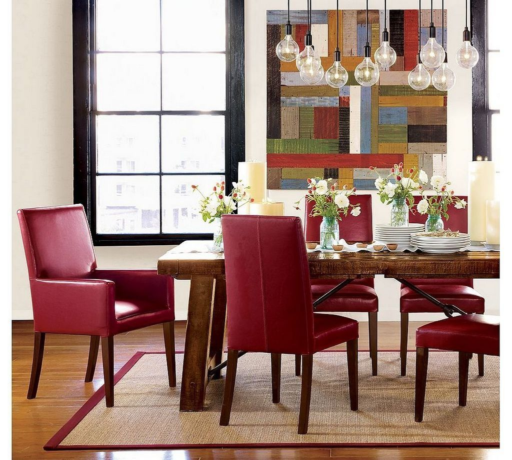 Dining Room Sets Leather Chairs Pleasing Dining Room Sets With Red Leather Chairs  Httpenricbataller Inspiration