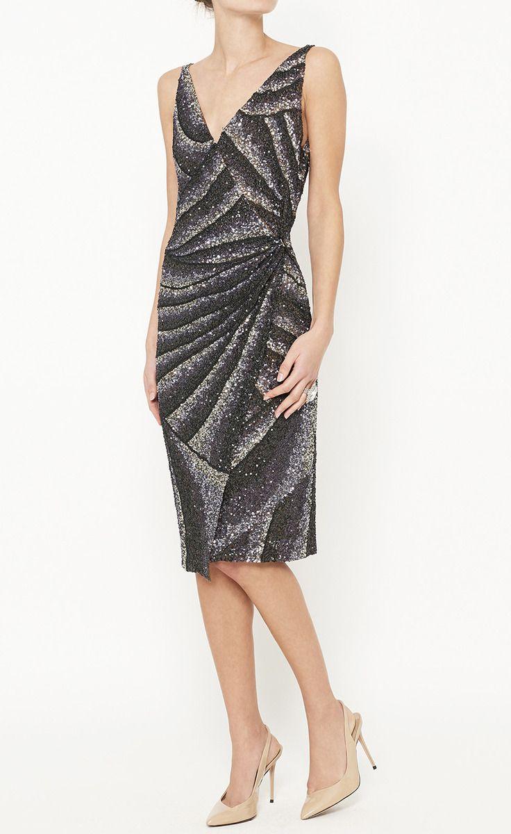 Alberta Ferretti Silver, Blue And Grey Dress