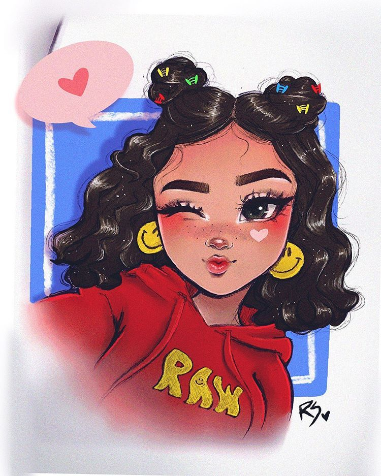 "Christina Lorre on Instagram: ""Goodmorning! ✨🤗 Here is the cutie I drew in my newest video!!! I love how she came out and how this little effect i did in procreate gave…"""
