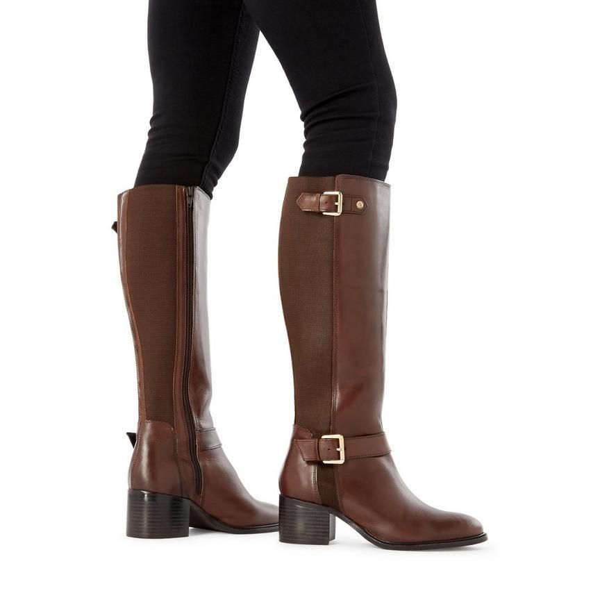 Boots, Knee high boots, Block heels