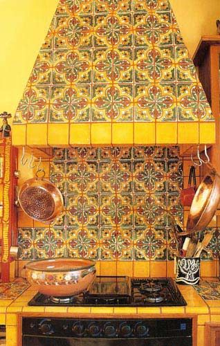 Mexican Kitchen Decorating With Talavera Tiles Pinterest Mexican Kitchens Mexican Kitchen