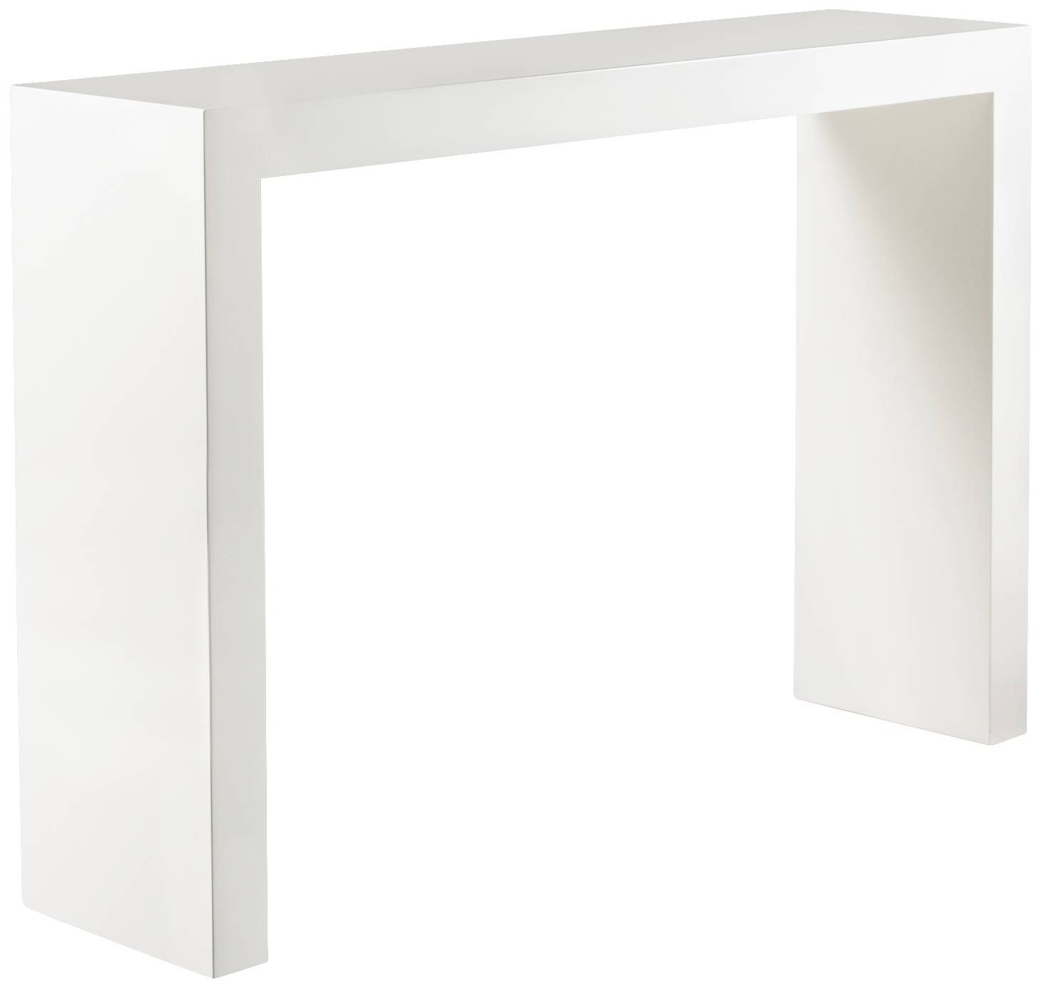 Arch white console table arches products and x arch white console table geotapseo Image collections