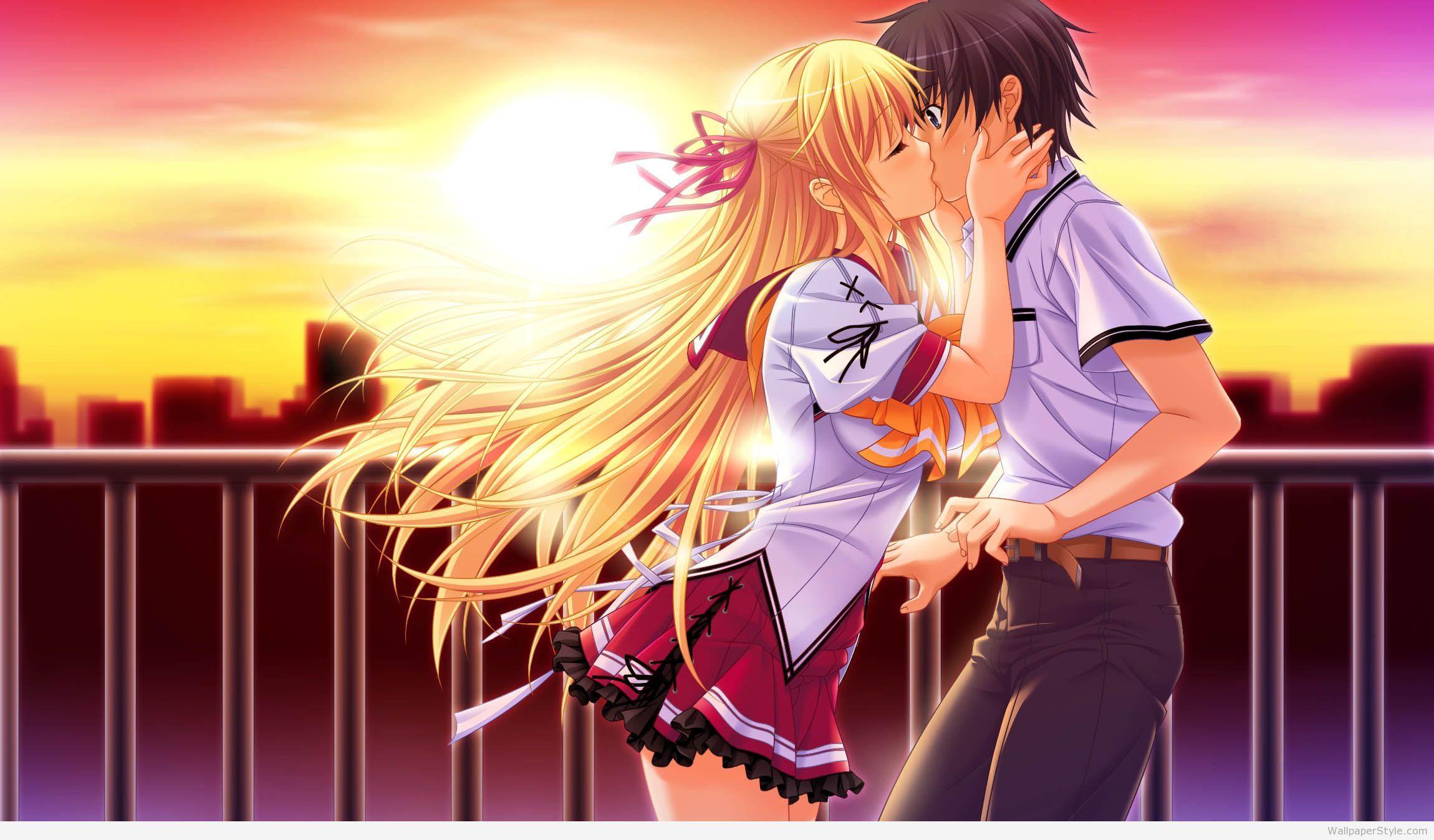 Anime Kiss Wallpapers Wallpaperstyle Com Anime Kiss