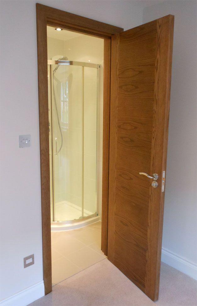 bespoke internal oak door with matching door frame in custom stain finish bespokedoors - Door And Door Frame