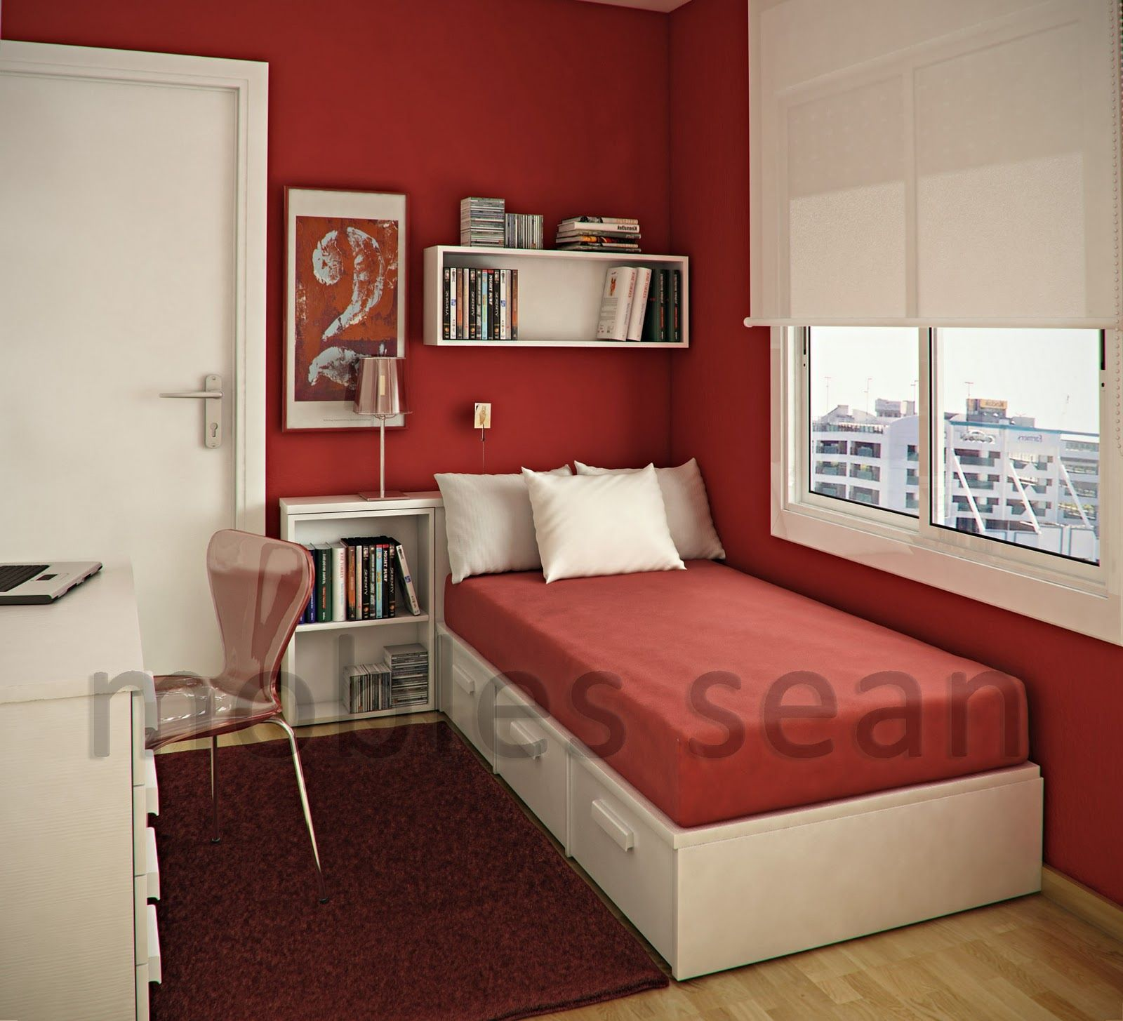 Decoration Ideas For Small Bedroom | Bedroom Designs India, Simple Bedroom, Red Bedroom Walls