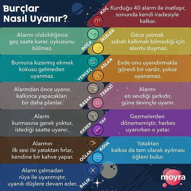 Hangi Burc Sabahlari Nasil Uyanir Senin Icin Yazdik Senin Burcun Hangisi Regram Via Askmoyra Burclar Astroloji Ikizler