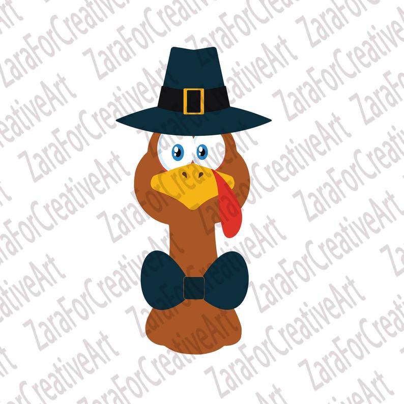 Turkey Face svg Thanksgiving Svg Turkey Clipart Turkey svg