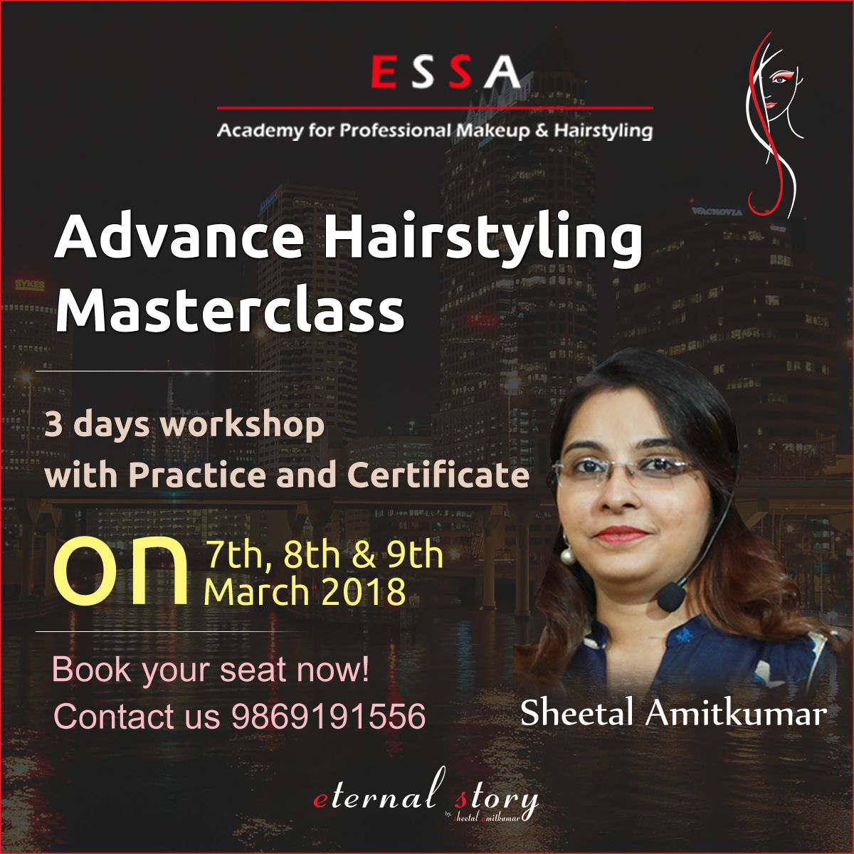 Advance Hairstyling Masterclass With Sheetal Amitkumar Learn Professional Hairstyling Techniques And Know How To Acco Bridal Makeover Master Class Hair Styles