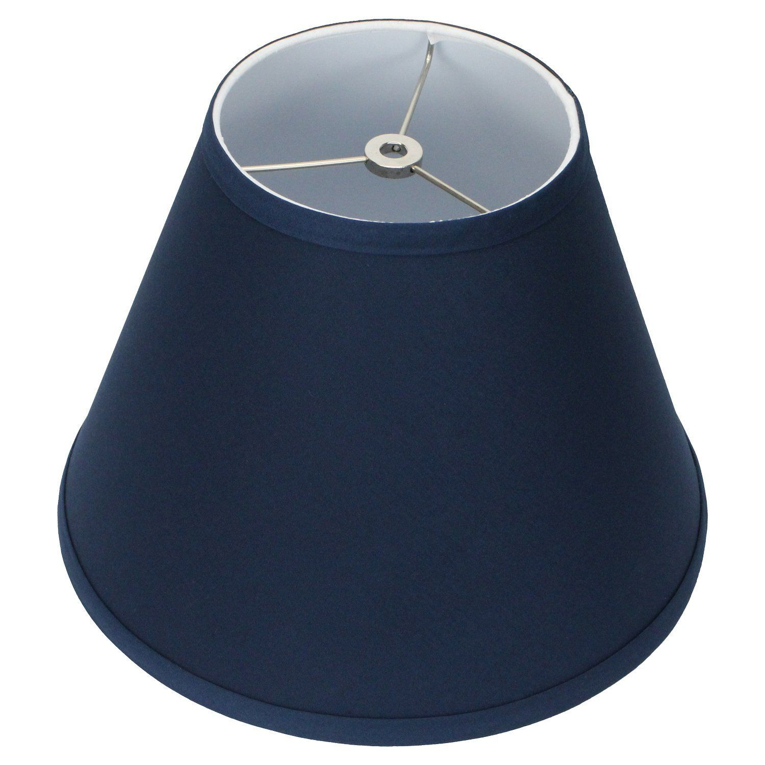 Fenchelshades Com Lampshade 6 Top Diameter X 12 Bottom Diameter X 9 Slant Height With Washer Spider Attachment For Lamps With A Harp Navy Lamp Harp Blue