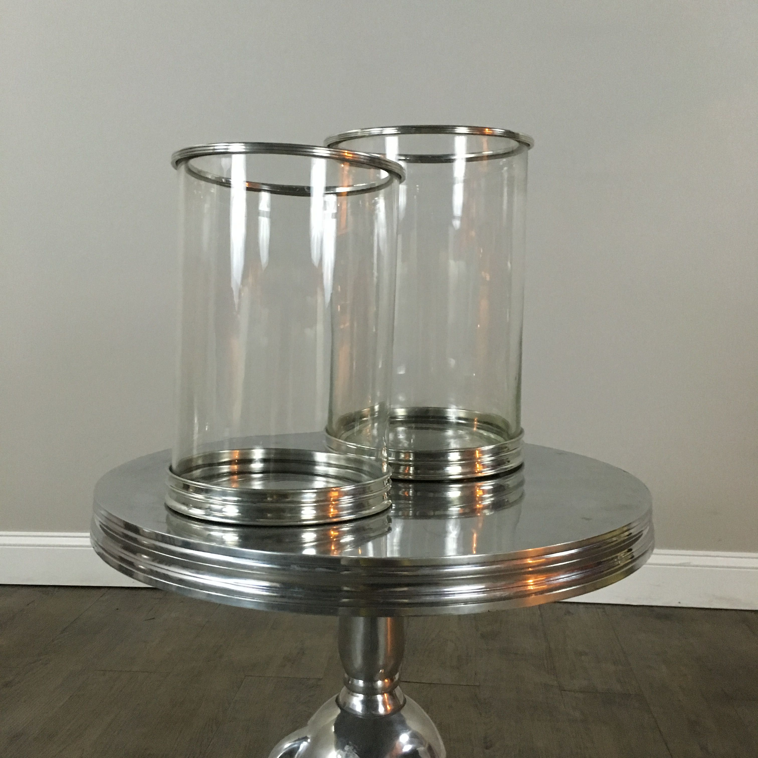 Two Large Hurricane Lamps William Sonoma Hurricane Lamps Lamp Local Furniture