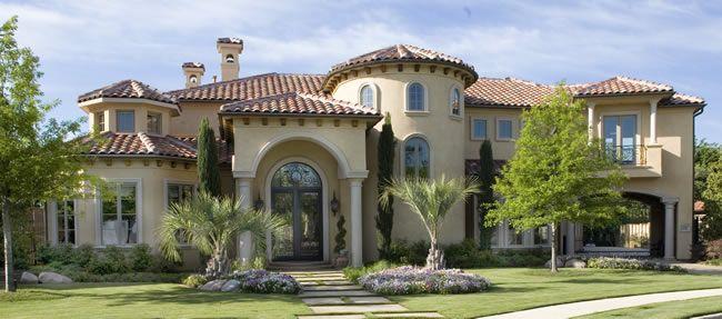 Mediterranean style custom home builder avida custom - Mansiones de ensueno ...