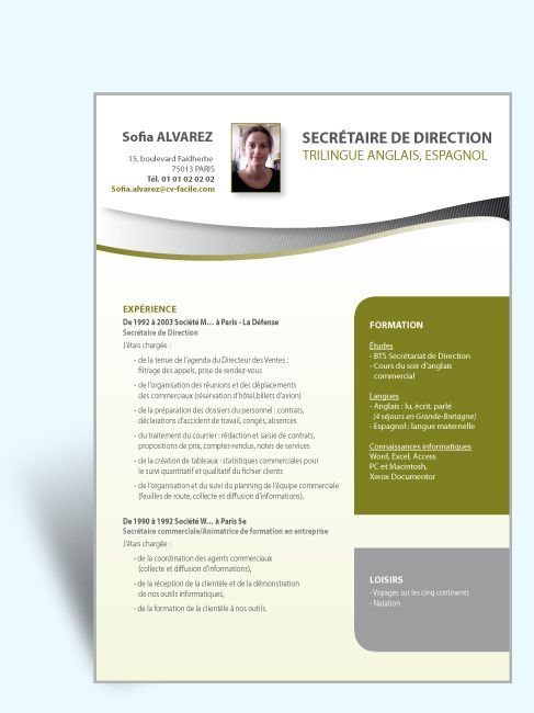 Modele Cv Exemple Secretaire Direction Jpg 487 650 Modele Cv Lettre De Motivation Secretaire Modele Lettre De Motivation