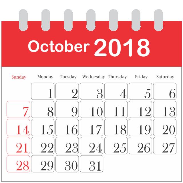 Month Calendar 2018 October 2018 Icon Daily Png Transparent Image And Clipart For Free Download Calendar 2018 November Calendar Calendar Word