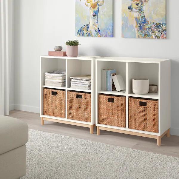 Haderittan Basket 11 X11 X11 Ikea In 2020 Cube Storage Decor Living Room Toy Storage Cube Storage Baskets