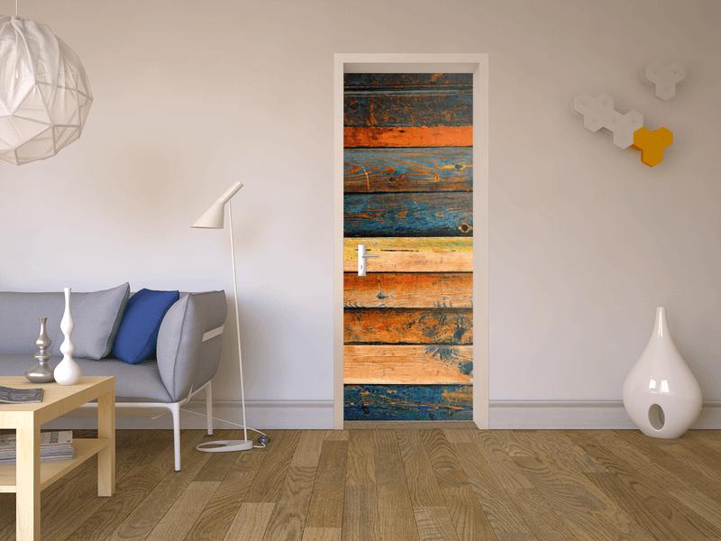 Designfolie Küche | Designfolie Wooden Fur Deine Tur Klein Innen 71 X 197 Cm Home