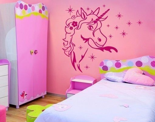wandtattoo zauber einhorn kinderzimmer f r m dchen. Black Bedroom Furniture Sets. Home Design Ideas