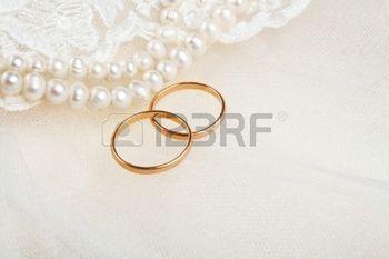 Wedding Invitation Background Pair Of Golden Wedding Rings