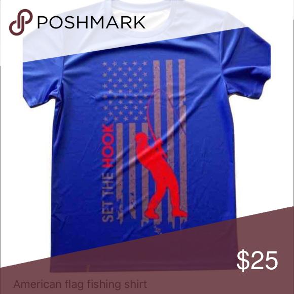 Download American flag fishing shirt Blue American flag fishing ...