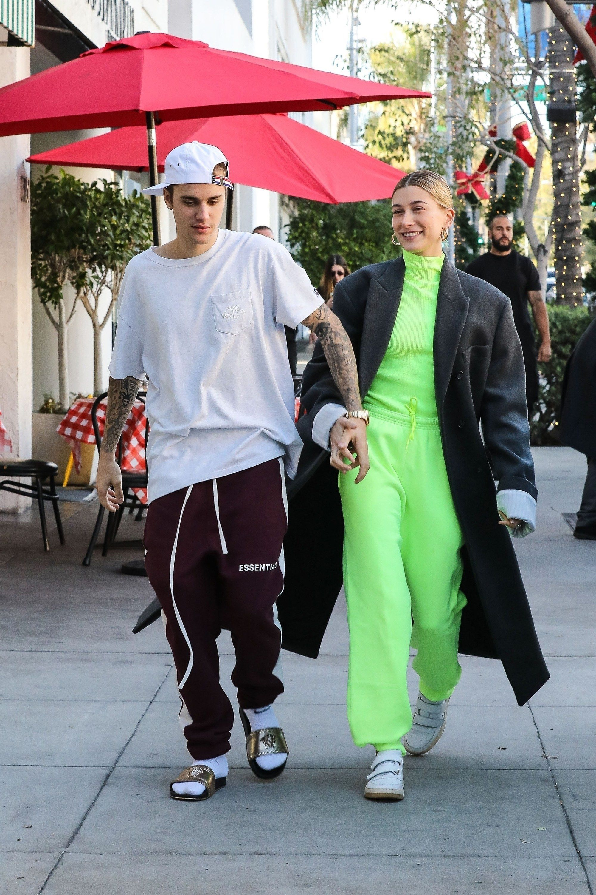 6da3e6dd4d57 11 Times Justin Bieber and Hailey Baldwin Aced the Art of Couples Style