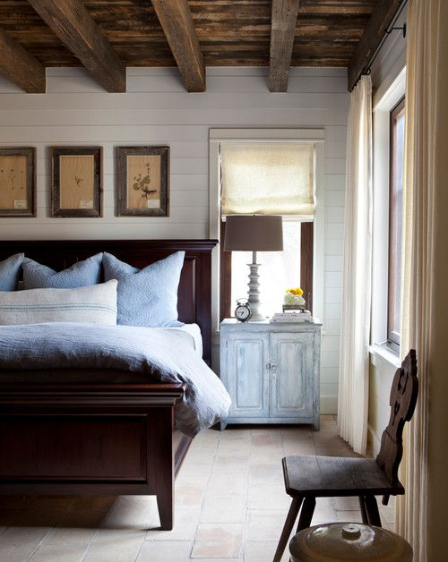 Rustic Farmhouse Bedroom With Shiplap Walls Rustic Master