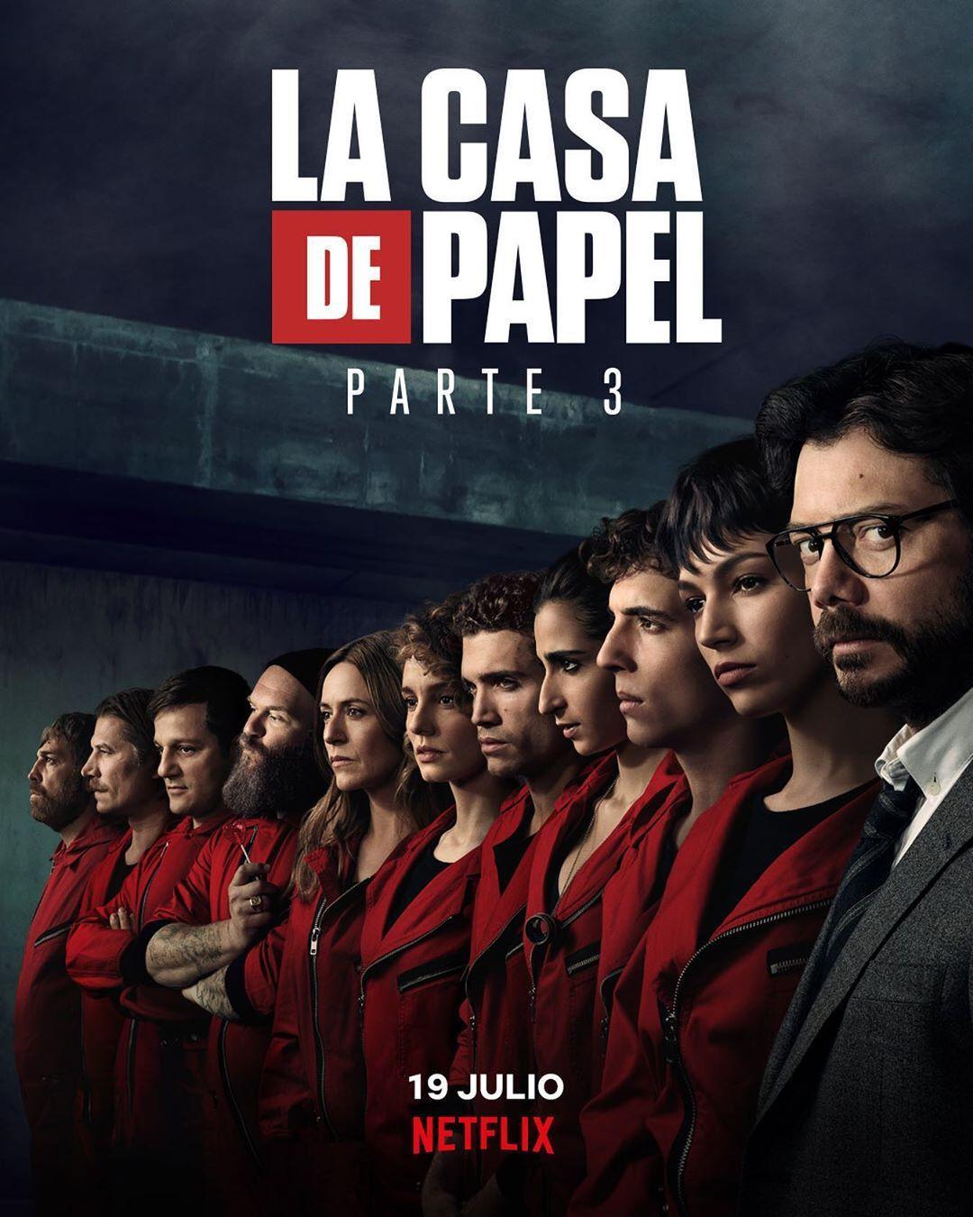 Series La Casa De Papel Temporada 3 Resumen Las Casas De Papel Carteles De Películas Famosas Casa De Papel