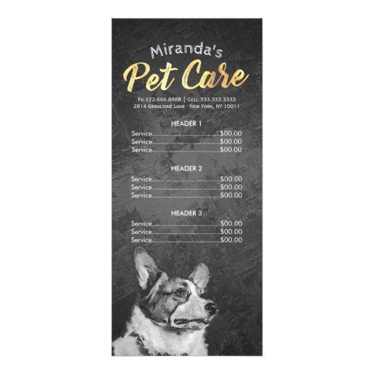 Pet Care Sitting Grooming Beauty Salon Price List Rack Card Zazzle Com Beauty Salon Price List Salon Price List Pet Care