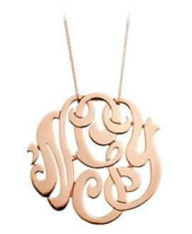 Ginette Large Gold Lace Monogram Pendant | Bespoke Home