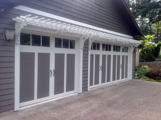 Wall Mounter Garage Trellis Adds Architectural Details In